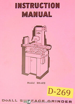 Doall DH612, Surface Grinder, 57 page, Instructions Manual 1970
