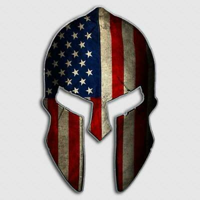 USA Molon Labe American Flag Spartan Helmet Sticker Decal Patriot 2nd Amendment