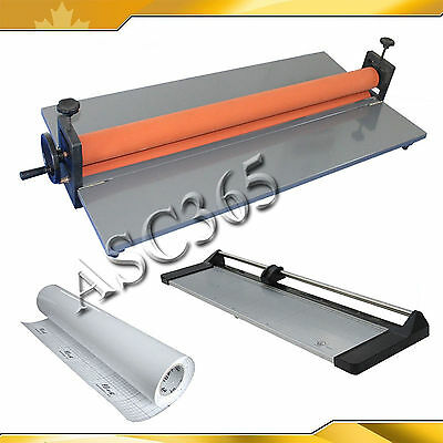 """39"""" Cold Laminator&33"""" Rotary Paper Cutter&2Rolls Cold Laminating Films"""