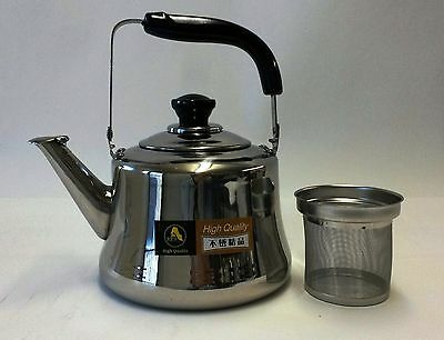 Stainless Steel Tea Kettle Pot With Infuser Filter Strainer 1 5 L 2 3