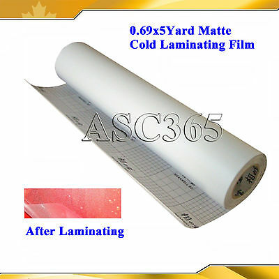 0.69x5Yard Matte Frosted Cold Laminating Film For Laminator Self Stick