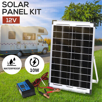 410W 12V SOLAR PANEL and 2 amp REGULATOR RV camp marine TRICKLE BATTERY CHARGER