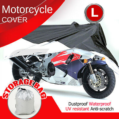 L Large Motorcycle Waterproof Outdoor Vented Motor Bike Scooter Dust Rain Cover