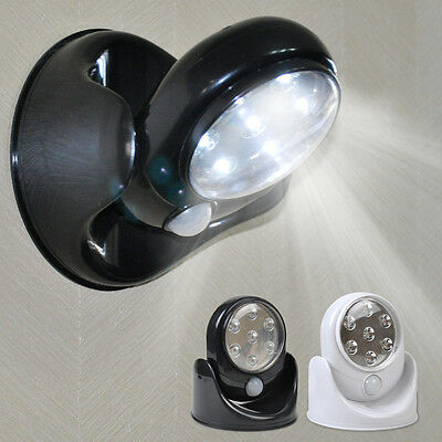 360° PIR Sensor Motion 7 LED Security Light Wall Cupboard Lamp  Battery Operated