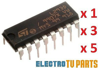 Motor Driver IC L293D L293 DIP/SOP Push-Pull Four-Channel Stepper Chip UK!