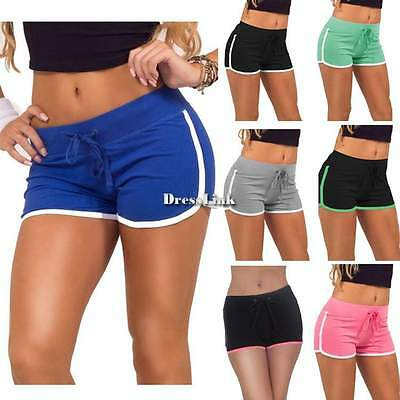 Pantaloncini corti Donne Cotone Sport Casual Spiaggia Gym Yoga Shorts Hot Pants