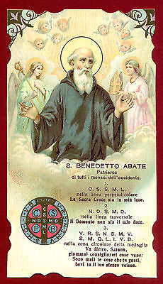 SANTINO SAN BENEDETTO  IMAGE PIEUSE - HOLY CARD-  Heiligenbild