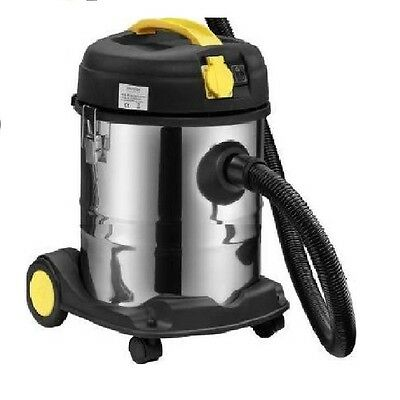 Syntrox Germany Industriesauger VC-2000W-20L Edelstahl mit Steckdose 20 Liter