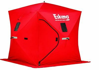 Eskimo QuickFish 2 Man Ice Shelter Fishing Winter Insulated Shelter Portable NEW