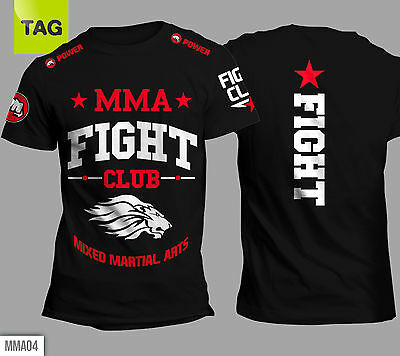 T-shirt MMA Mixed Martial Arts MUAY THAI UFC Lions Fight Club Power tees COLORS