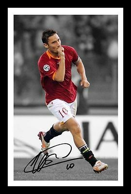 Francisco Totti - Roma Autographed Signed & Framed Pp Poster Photo