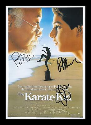 The Karate Kid Cast  Autographed Signed & Framed Pp Poster Photo