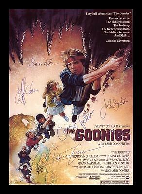 The Goonies Autographed Signed & Framed Pp Poster Photo