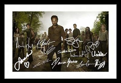 The Walking Dead Autographed Signed & Framed Pp Poster Photo