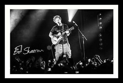 ED SHEERAN AUTOGRAPHED SIGNED /& FRAMED PP POSTER PHOTO
