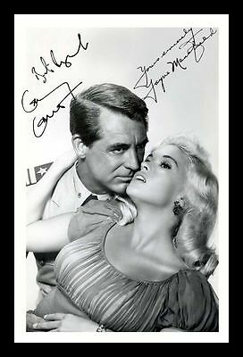 Cary Grant Signed Autographed 21cm x 29.7cm A4 Photo Poster