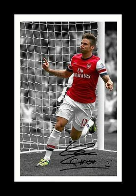 Olivier Giroud - Arsenal Autographed Signed & Framed Pp Poster Photo