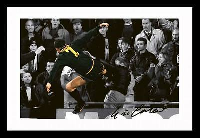 Eric Cantona Kung Fu Kick Autographed Signed & Framed Pp Poster Photo