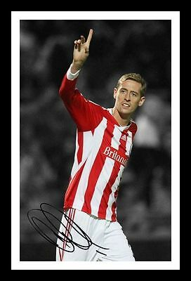 Peter Crouch Signed Mounted Photo Display Stoke City FC