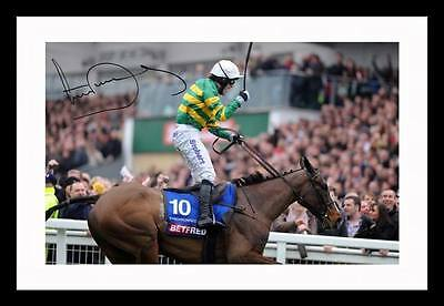 Tony Ap Mccoy - Syncronised Autographed Signed & Framed Pp Poster Photo