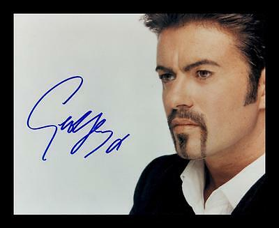 George Michael Autographed Signed & Framed Pp Poster Photo