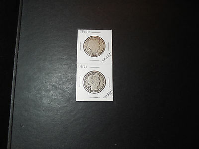 1907-O + 1912-S Barber half dollars (cs)