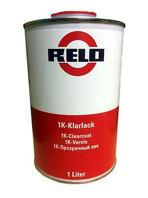 Relo 1k Clearcoat Gloss CarBike Lacquer 1 Litre RFU