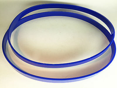 """Set of 2 Blue ULTRA Thick 1/8"""" .125"""" URETHANE BAND SAW TIRES for Grizzly G5013"""