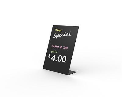 ACRYLIC BLACKBOARD - Great for displaying daily specials 3mm Black Acrylic