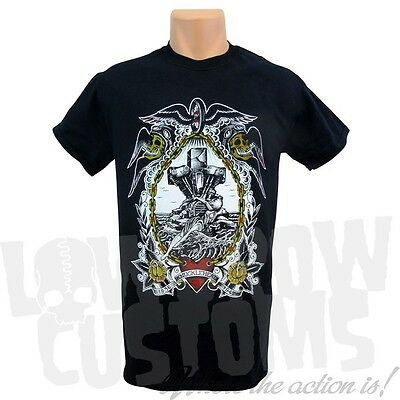 Lowbrow Customs Knucklehaed of Ages T-shirt Harley EL Chopper Bobber