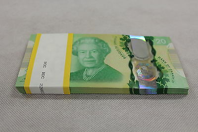 CONSECUTIVE 5 x $20 Queen's Historic Reign Canada *NEW* Commemorative Note Set