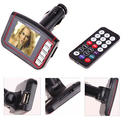 "1.8"" Wireless LCD Car Auto FM Transmitter MP3 MP4 Music Player USB MMC SD Remote"