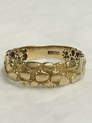 Vintage CRESCENT 14K Solid Yellow Gold 6.5mm Wedding Band Ring Size 8.75