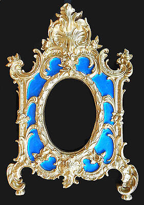 Baroque Frame Ornament. (Blue accent). Wall decoration.Antique reproduction