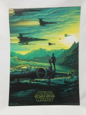 STAR WARS The Force Awakens Promo Photo AMC IMAX Movie Poster 2/4 FLAWED