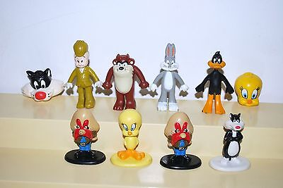 LOONEY TUNES 1987 & 1988 Arby's Vintage Lot of 10 Characters  Kid's Meal Toys