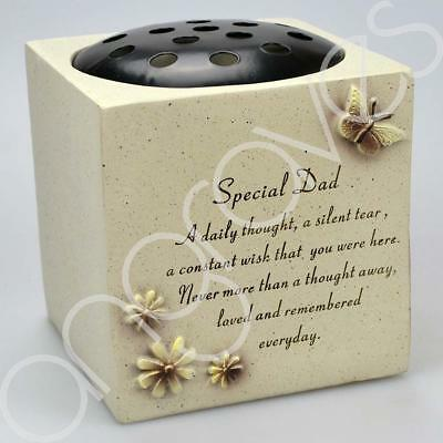 Special Dad Graveside Memorial Flower Pot Verse Graveside Vase Loved Butterfly