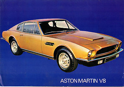 Aston Martin V8 1972-73 UK Market Foldout Sales Brochure