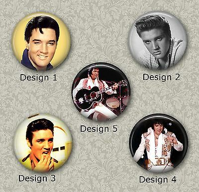 5 x 25mm Elvis Presley Cabochons for Jewellery Making 3 Different Sets