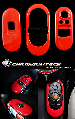 RED Centre + Window Control Panel Cover for MK3 MINI Cooper/S/ONE F56 2DR Hatch