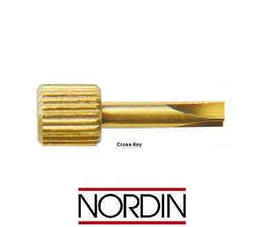 Dental Screw Post Key Wrench by * NORDIN * for screw posts - Cross Key