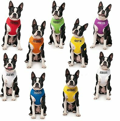 Dogs Vest Harness Adjustable Yellow Green Orange Blue Purple Red Small Chest New