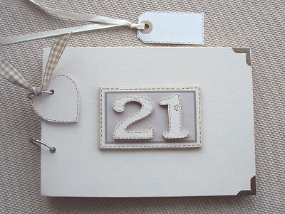 PERSONALISED 21ST birthday ....A5  SIZE..PHOTO ALBUM/SCRAPBOOK/MEMORY BOOK.