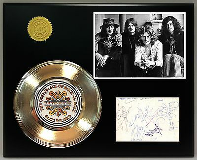 Led Zeppelin Gold Record Signature Series Limited Edition Display