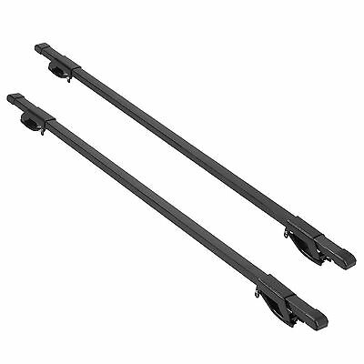 Double 120cm Black Universal Car Top Roof Rack Rails Luggage Carrier Cross Bars