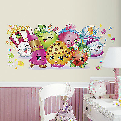 SHOPKINS PALS GIANT Wall Decals Girls Bedroom Peel and Stick Stickers Decor