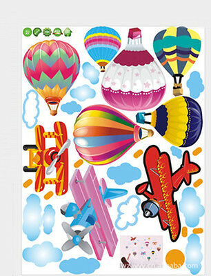 Hot air balloon airplane Removable Baby Room Vinyl Wall Sticker Decal Home Decor