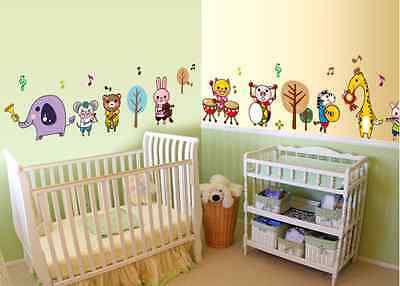 Animal music team Removable Baby Room Vinyl Wall Sticker Decal Home Decor