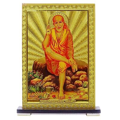 Plastic Sheet  Religious Sai Baba Car Dashboard Decorative Home Table Decor 3888