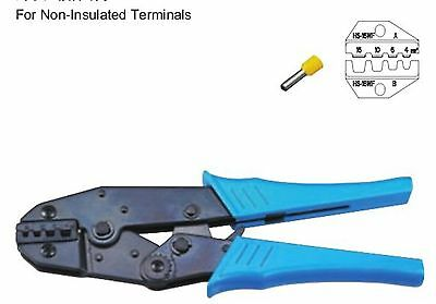 Non-Insulated Terminals Ratchet Crimping Tool Plier Crimper 4-16mm2 AWG12-6